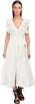 Temperley London Ruffled Gingham Midi Dress