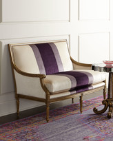 Horchow Massoud Lilah Violet Colorblock Settee