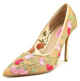 Betsey Johnson Johni Women Pointed Toe Canvas Multi Color Heels.