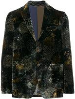 Etro forest scene velvet blazer