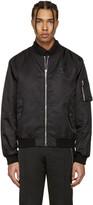 Moschino Black Nylon Bomber Jacket