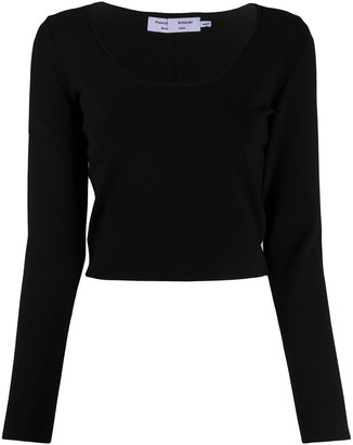 Proenza Schouler White Label Cropped-Length Jumper