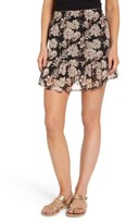 BP Women's Floral Print Drop Waist Skirt
