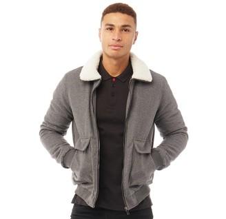 Brave Soul Mens Bodhi Sherpa Collar Jacket Grey