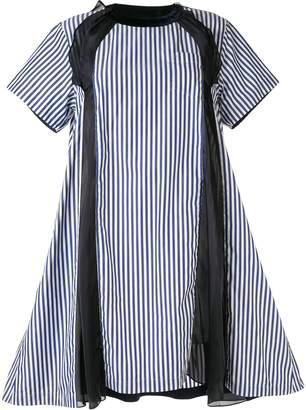 Sacai striped dress