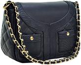 Dasein Black Quilted Shoulder Bag