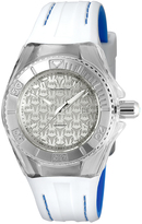 Technomarine Silvertone Silicone Cruise Bracelet Watch