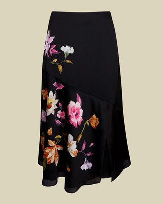 Ted Baker HAYLEYY Rhubarb panel detail midi skirt