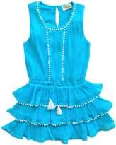 Sophie Catalou Ruffle Scoopneck Cotton Dress