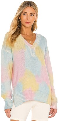 LoveShackFancy Naveen V Neck Pullover. - size L (also