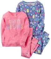 "Carter's Baby Girl Sweet Dreams"" Tees & Pants Pajama Set"