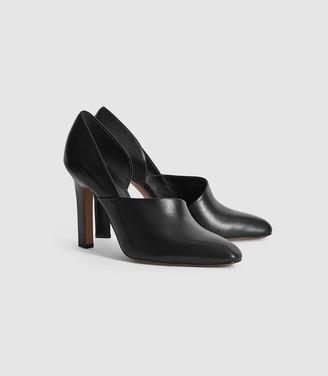 Reiss Amelie - Leather High Heels in Black