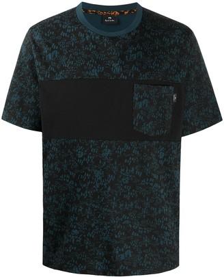 Paul Smith contrast organic cotton T-shirt