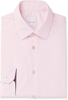 Paul Smith Slim-Fit Cotton-Poplin Shirt - Men - Pink