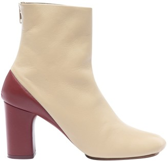 Celine Beige Leather Boots