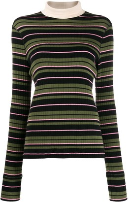 Marni Mock Neck Ribbed Jumper