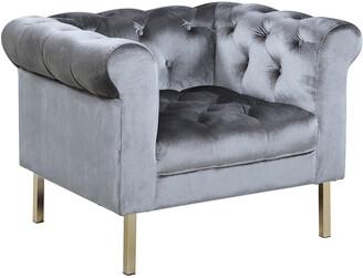 Chic Home Giovanni Grey Velvet Club Chair