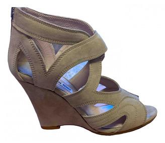 Miu Miu Beige Suede Sandals