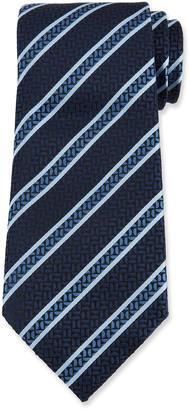 Ermenegildo Zegna Men's Crescent Stripe Silk Tie