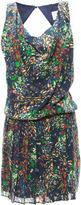 Alice + Olivia Kartwright Draped Mini Pleated Dress
