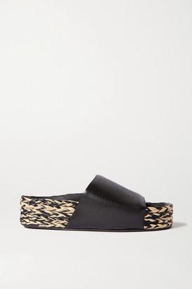 Simon Miller Mud Leather Espadrille Platform Sandals - Black