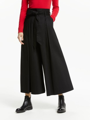 Somerset by Alice Temperley Tie Waist Culottes, Black