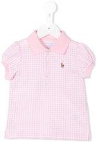 Ralph Lauren checked polo shirt - kids - Cotton - 3 mth