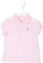 Ralph Lauren checked polo shirt - kids - Cotton - 6 mth