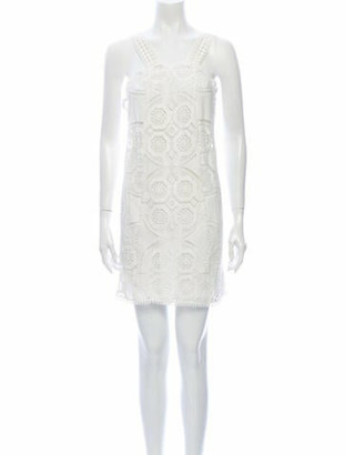 Alexis Lace Pattern Mini Dress