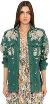 Roberto Cavalli Embellished Cotton Gabardine Jacket