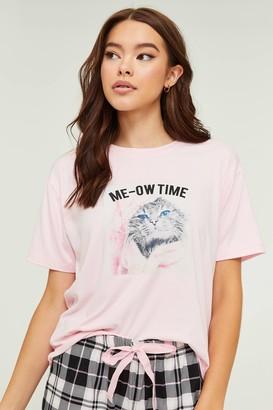 Ardene Meow Time Tee and Shorts PJ set