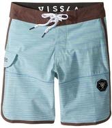 VISSLA Kids - Spaced Diver 4-Way Stretch Space Dye Boardshorts 17 Boy's Swimwear