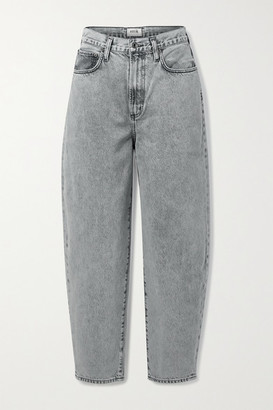 AGOLDE + Net Sustain Balloon High-rise Tapered Jeans - Gray