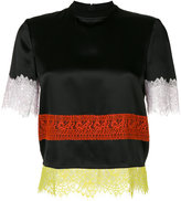 Givenchy lace panel T-shirt - women - Silk/Cotton/Polyamide - 36