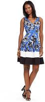 Ralph Lauren Color-Blocked Floral Dress