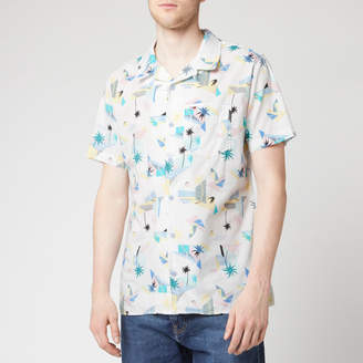 Tommy Jeans Men's Printed Short Sleeve Shirt