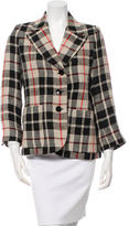 Sonia Rykiel Plaid Notch-Lapel Jacket