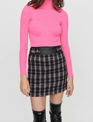 Maje Tweed -style contrast pencil skirt
