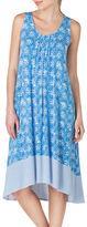 Ellen Tracy Crisscross Midi Nightgown