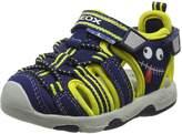 Geox Kids B MULTY Boy Sport Sandals, Navy/Yellow