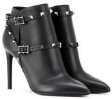 Valentino Garavani Rockstud Noir Leather Ankle Boots