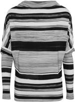 Norma Kamali Draped printed stretch-jersey top