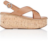 Prada Women's Platform Wedge Sandals-Tan