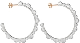 Laura Lee Jewellery Scalloped Hoop Earrings - Sterling Silver