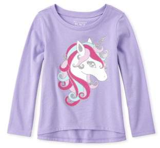 Children's Place The Fancy Unicorn Graphic High-Low Long Sleeve T-Shirt (Baby Girls & Toddler Girls)