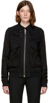 Haider Ackermann Black Perth Bomber Jacket