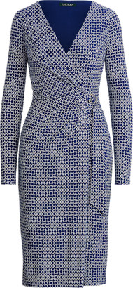 Ralph Lauren Print Jersey Long-Sleeve Dress