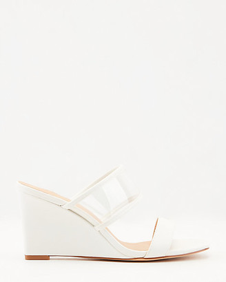 Le Château Translucent & Faux Leather Wedge Sandal