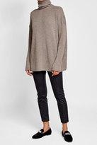 Agnona Ribbed Cashmere Turtleneck Pullover