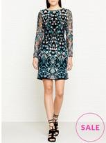 Reiss Alianna Graphic Lace Dress
